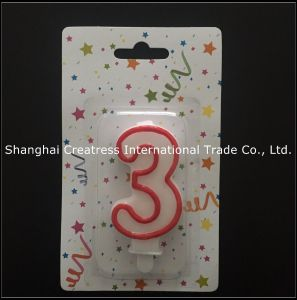 Wholesale Paraffin Wax Birthday Number Candle Happy