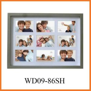 "9-Opening Collage Solid Wooden Photo Frame Holds Nine 6""X4"" Photos (WD09-86SH) pictures & photos"