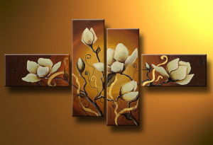 Flowers Oil Pianting with Frame pictures & photos