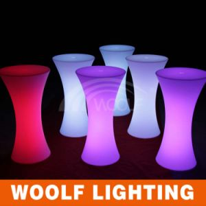 Rechargeable Plastic Lighting up Furniture LED Coffee Table