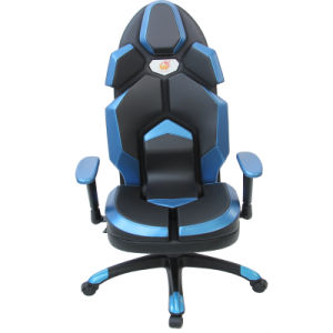 Blue Leather Racing Computer Chair Rotatable Lift pictures & photos
