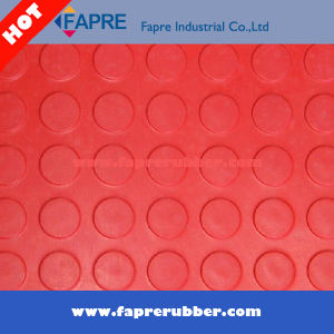 Round DOT Rubber Mat Flooring for Workshop and Car