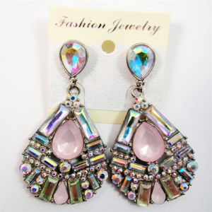 New Item Crystal Glass Acrylic Oval Shape Post Fashion Jewellery Earring