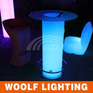 LED Light Pillar Base Ice Bucket Tables