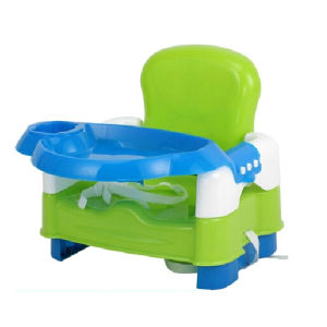Baby 3 Level Foldable Booster Seat in Apple Green
