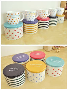 Round Gift Metal Tin Box for Ceramic Mug pictures & photos
