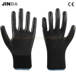 Nitrile Coated Industrial Labor Protective Gloves Latex (NS009) pictures & photos