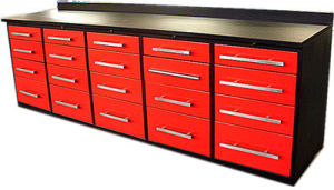 Metal Work Bench Countertop Cabinet With Drawers For Garage Farm School Hospital