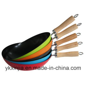 Cookware Colorful Carbon Steel Non-Stick Wok Kitchenware for European Market pictures & photos