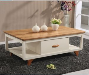 Simple Solid Wood Coffee Table for Living Room Furniture