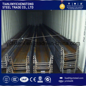 Hot Rolled U Type Steel Sheet Pile JIS Standard 400X150mm pictures & photos