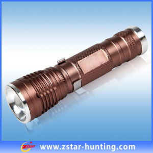 250 ~ 320lm Lumens Titanium Police Tactical Rechargeable LED Light (ZSHT0015)