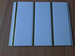 PVC Wall Panels 25cm*8mm with Golden Lines pictures & photos