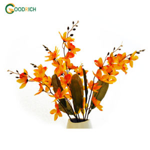 Stancing Orchid Bush Silk Flower Decoraion