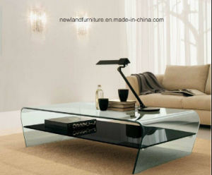 Modern Furniture of Glass Coffee Table Side Table (TB-S166)