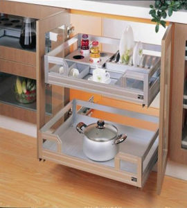 China Stainless Steel Drawer Pull Out Kitchen Base Cabinet China
