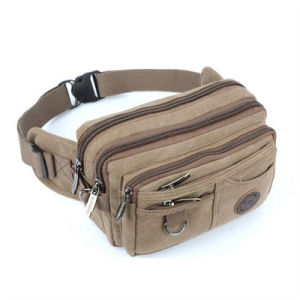Korean Style Casual Jeans Canvas Multifunctional Large Capacity Motor Pockets Waist Bag (GB#80195) pictures & photos