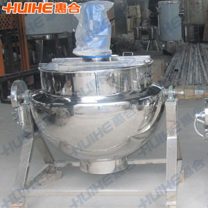 Stainless Steel Gas Heating Jacketed Kettle for Food pictures & photos