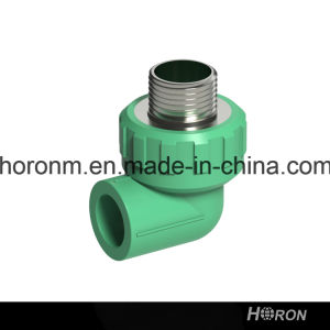 PPR Water Pipe Fitting (90 DEG MALE THREAD ELBOW)