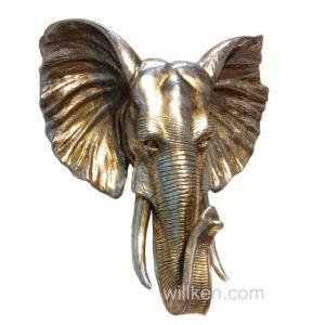 Custom Made Artificial Home Decor Elephant Wall Mounted Resin Animal Head