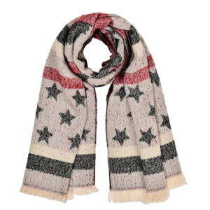 Women′s 180*65cm Reversible Cashmere Like Winter Warm Knitted Woven Shawl Scarf (SP251) pictures & photos