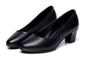 Clic Women Formal Dress Shoes Genuine Leather Footwear Black 35 40 Size Heel Height