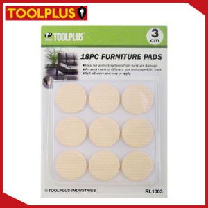 Superieur 18PC Brown Round Furniture Sliding Pads