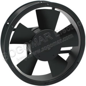 220X220X60mm Round Panel Fan with 220VAC Ball Bearing