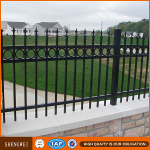 Black Ornamental Metal Garden Fence pictures & photos