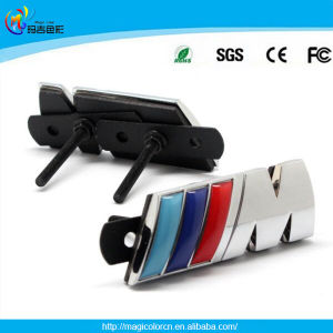 China Chrome M Power M3 M5 Front Grill Badge Emblem M Logo For