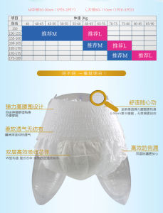 Sk-0146 20pieces Adult Diaper and Plastic Pant Old Unisex Nappy in Incontinence Waterproof Custom Diaper