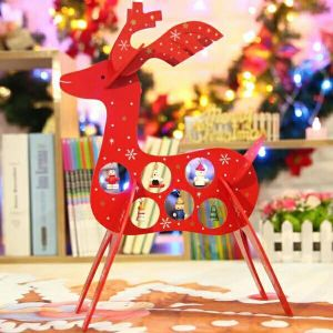 2017 Latest Wooden Christmas Decorations with Atand Deer