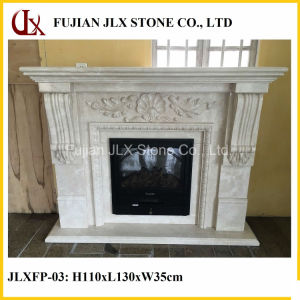 Indoor Hand Carved Marble Fireplace