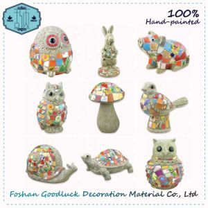 hand painted resin ceramic outdoor garden animals decoration gl143 - Garden Animals