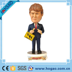 Factory Custom Made Best Home Decoration Gift Polyresin Trump Bobblehead pictures & photos