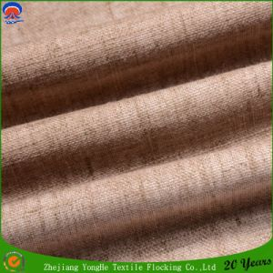 Polyester Window Curtain Fabric Woven Linen Waterproof Flocking Blackout Curtain Fabric pictures & photos