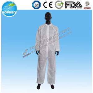 Coverall Safety Clothing Protective Disposable Non Woven Coverall pictures & photos