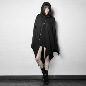 Py-201 Gothic Dark Bats Tapered Conical Hat Cloak for Halloween