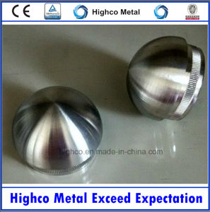 Stainless Steel Railing with Dome Shaped End Cap pictures & photos
