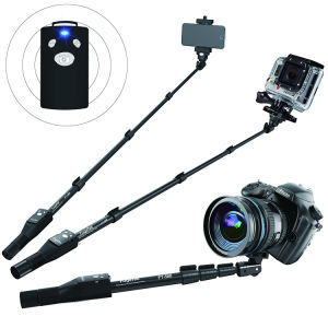Professional Selfie Stick with Bluetooth Remote for Apple pictures & photos