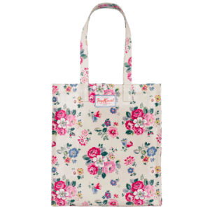 Pure Canvas Floral Printing Handle Book Bag (23191)