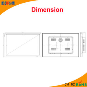 22 Inch CCTV Huayuan LCD pictures & photos