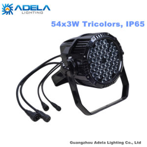 Waterproof 54X3w Tricolor LED PAR Outdoor IP65 Light pictures & photos