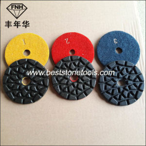 Cr-28 Black Wearable Resin Diamond Polishing Pad for Terrazzo Concrete