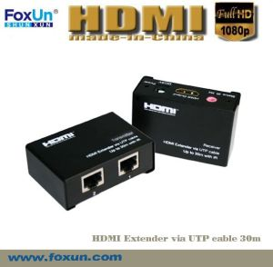 30m HDMI Extender Support 3D & Cec & IR & with ESD Protection Inside