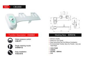 Water Pressure Control Cold Water Toilet Fitting Manual Bidet