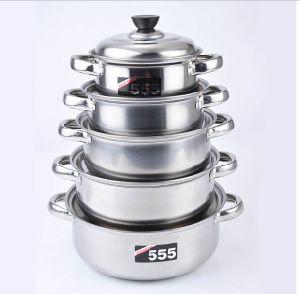 Stainless Steel Soup Pot Hot Pot Sauce Pot (JX-016)