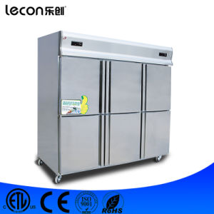 Commercial Stainless Steel Six Doors Deep Freezer for Kitchen