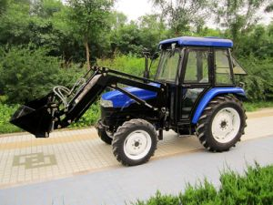 2018 Hot Sale China Made High Quality 30-75HP 4X4 4WD 4 in 1 Bucket Lower Front End Type Farm Tractor Loader pictures & photos