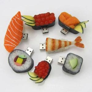 Funny Gadgets Sushi USB Key 8GB 16GB PVC Sushi USB Flash Drive pictures & photos